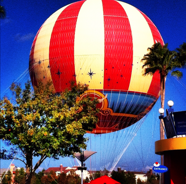 Hot Air Balloon in Downtown Disney Downtown disney, Hot