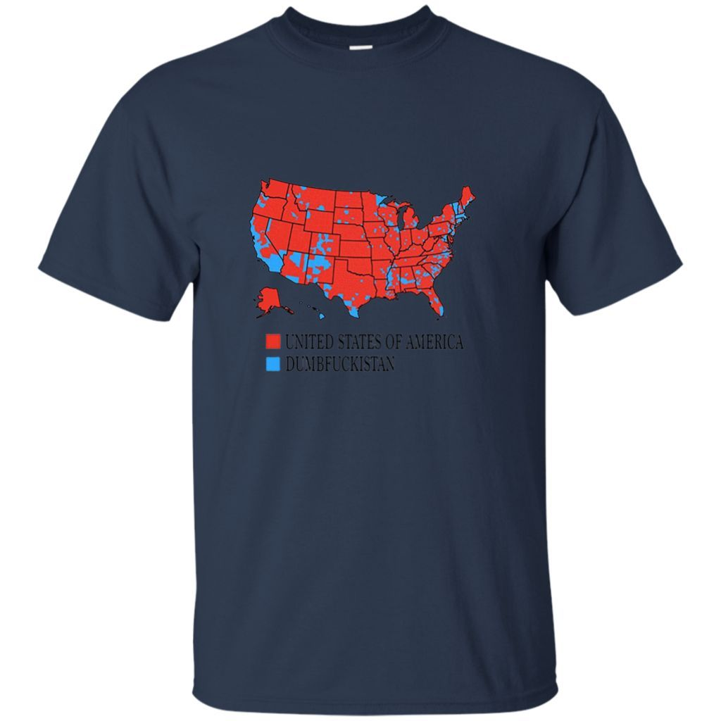 Dumbfuckistan T Shirt City vote Map United States