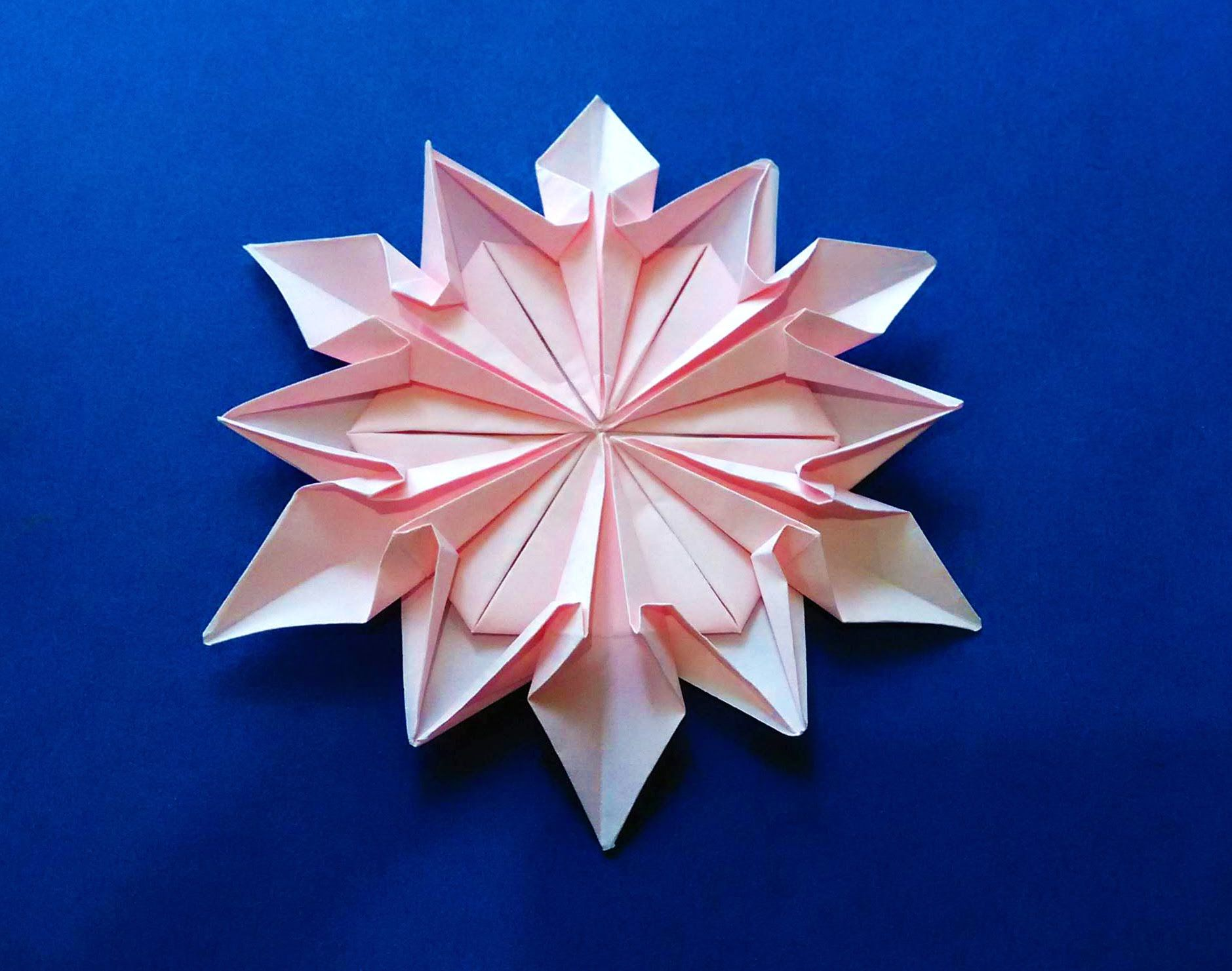 origami 12 petals flower origami snowflake dennis walker