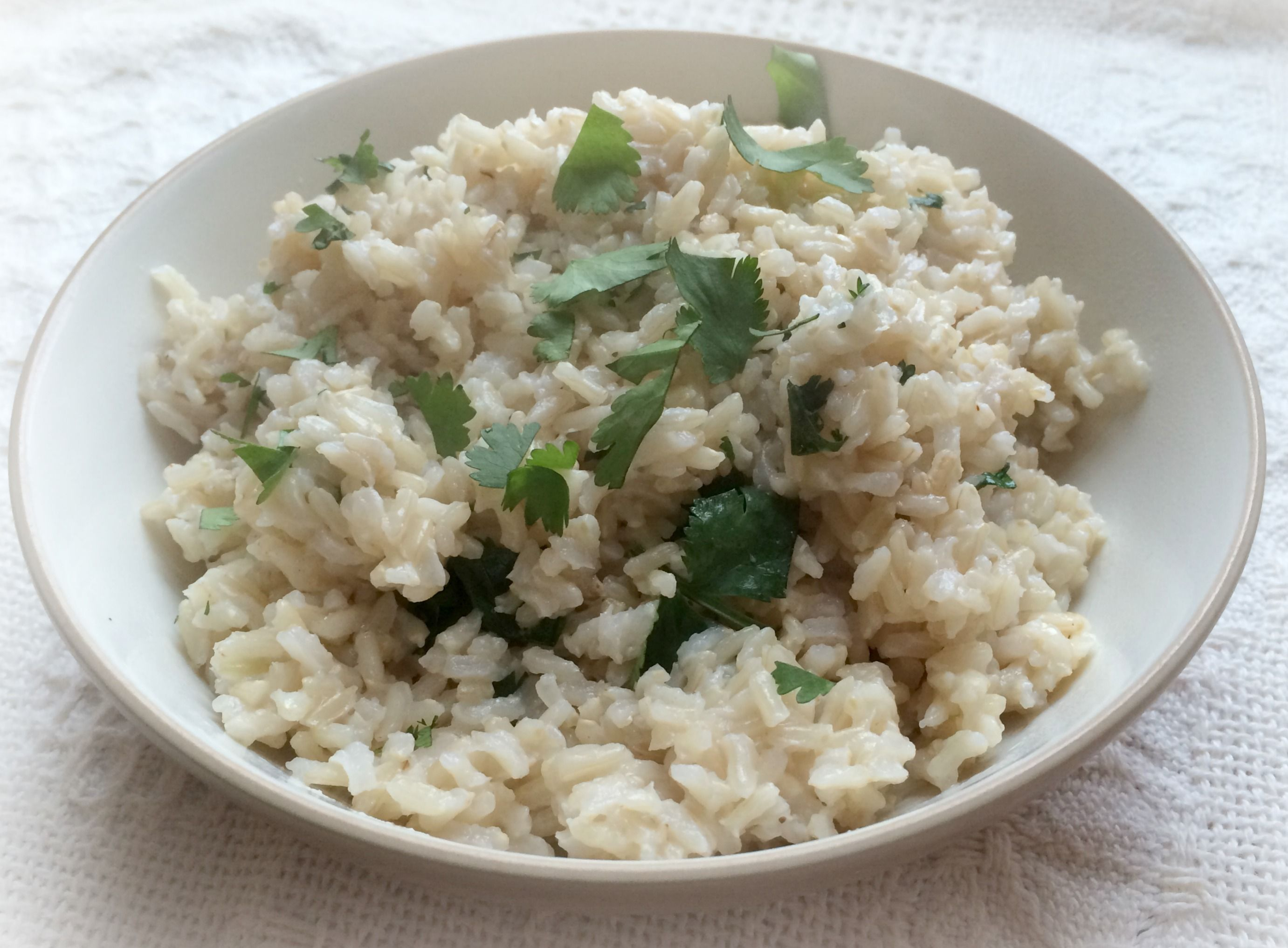 Cilantro Lime Brown Rice | Candida Cooking