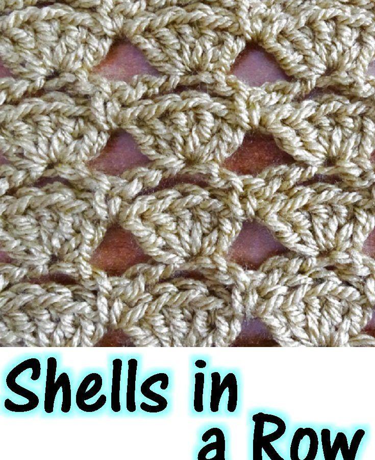 Shells In A Row Free Crochet Pattern Crochet Patterns Crochet