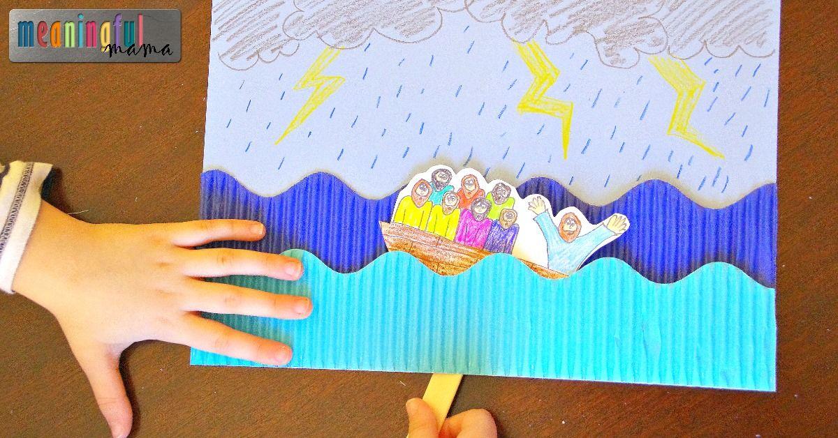 Jesus Calms The Storm Craft Sunday School Crafts Bible Crafts Preschool Sunday School Crafts For Kids