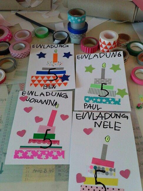 Bastelt Eure Geburtstagseinladungen Selber Geburtstagseinladungen Einladung Kindergeburtstag Einladungskarten Kindergeburtstag