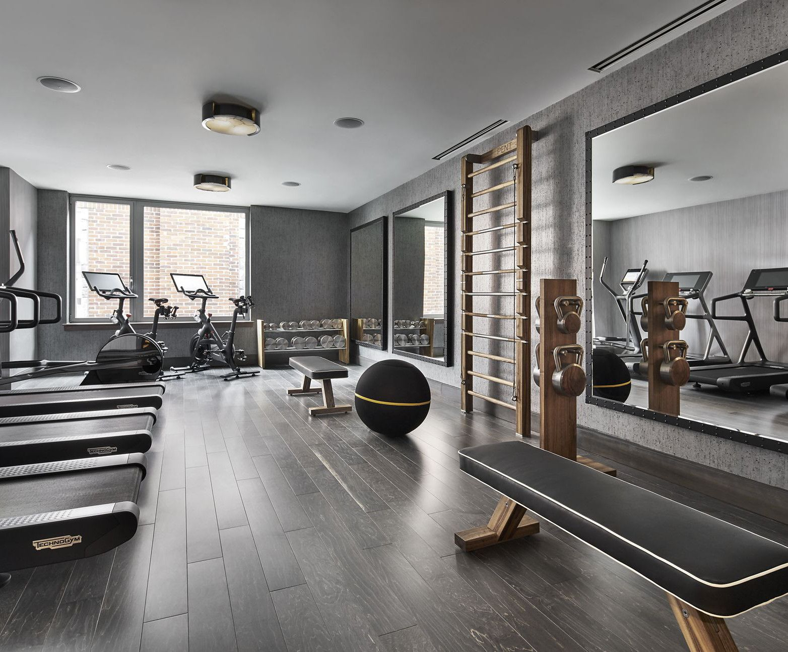 luxury fitness home gym equipment and for personal studio dumbbells wal bar exercise bench. Black Bedroom Furniture Sets. Home Design Ideas