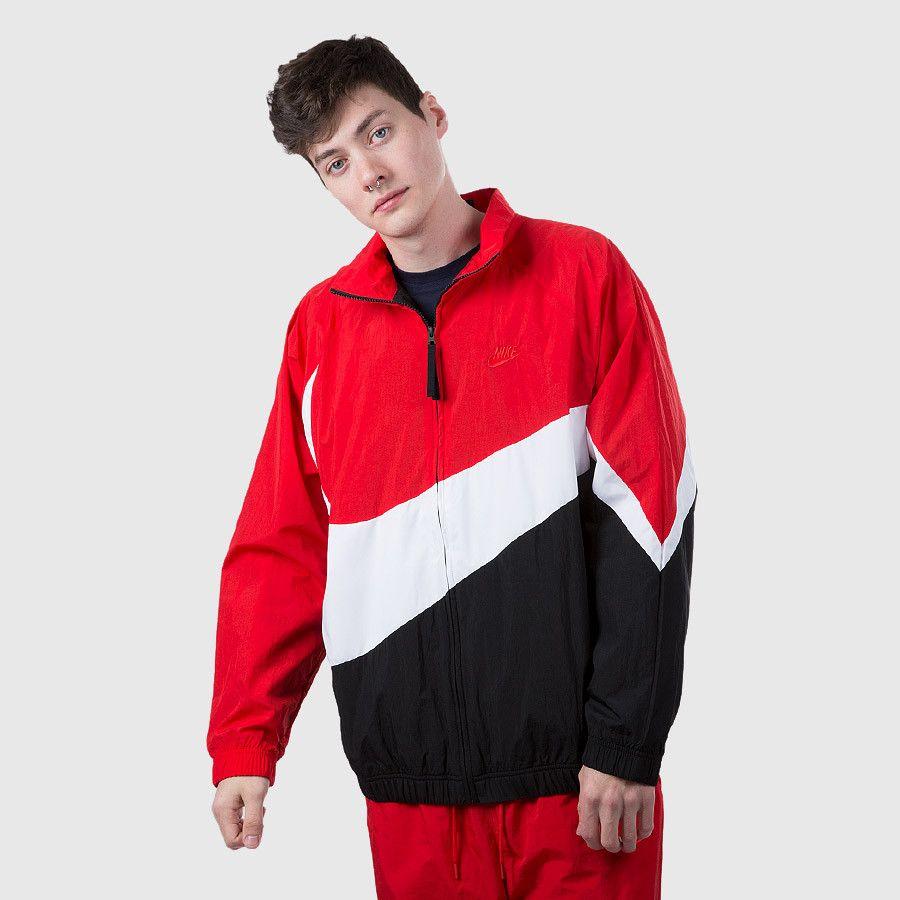 082344e88c2b3 Nike - Men's NSW Swoosh Woven Full Zip Jacket (Red | White | Black) Front