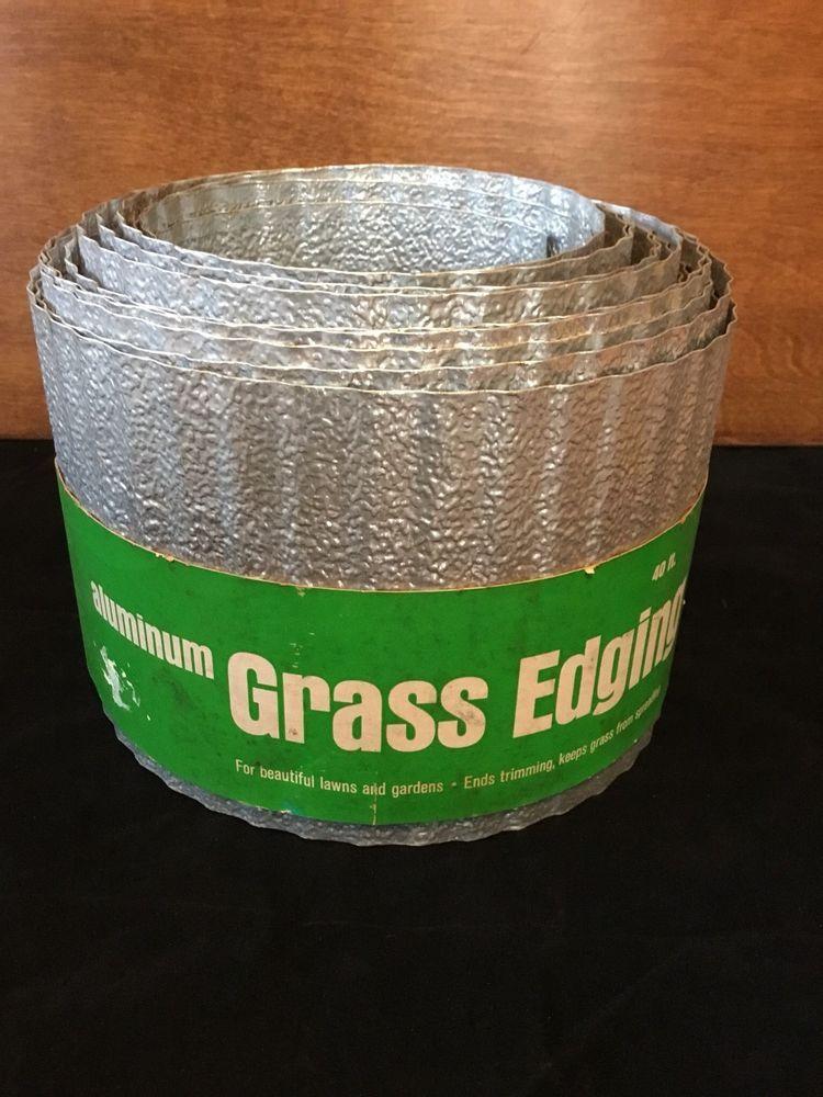 Vintage Aluminum Grass Lawn Edging Flower Border 400 x 300