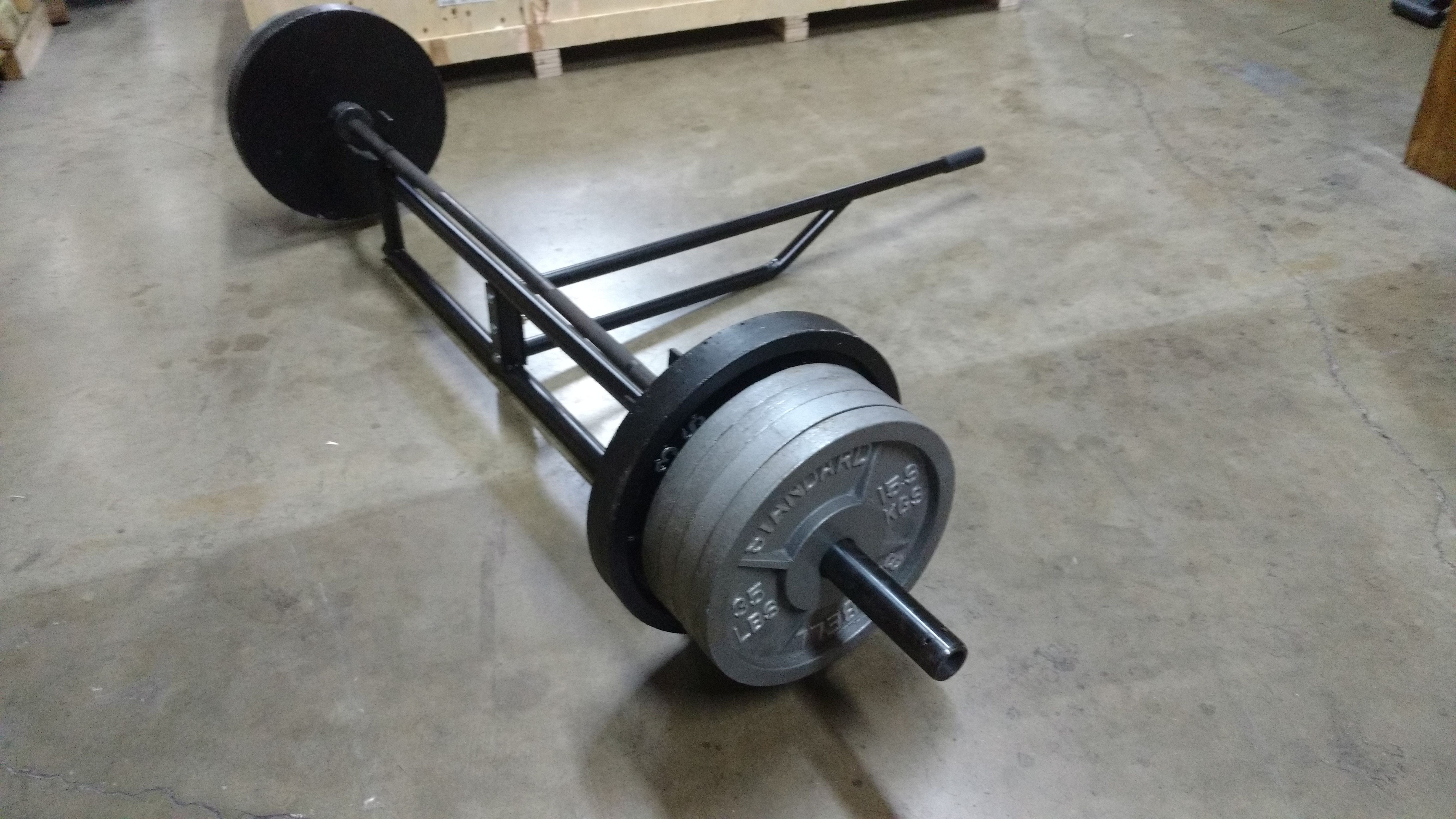 Black steel double barbell deadlift jack ader ohio fitness