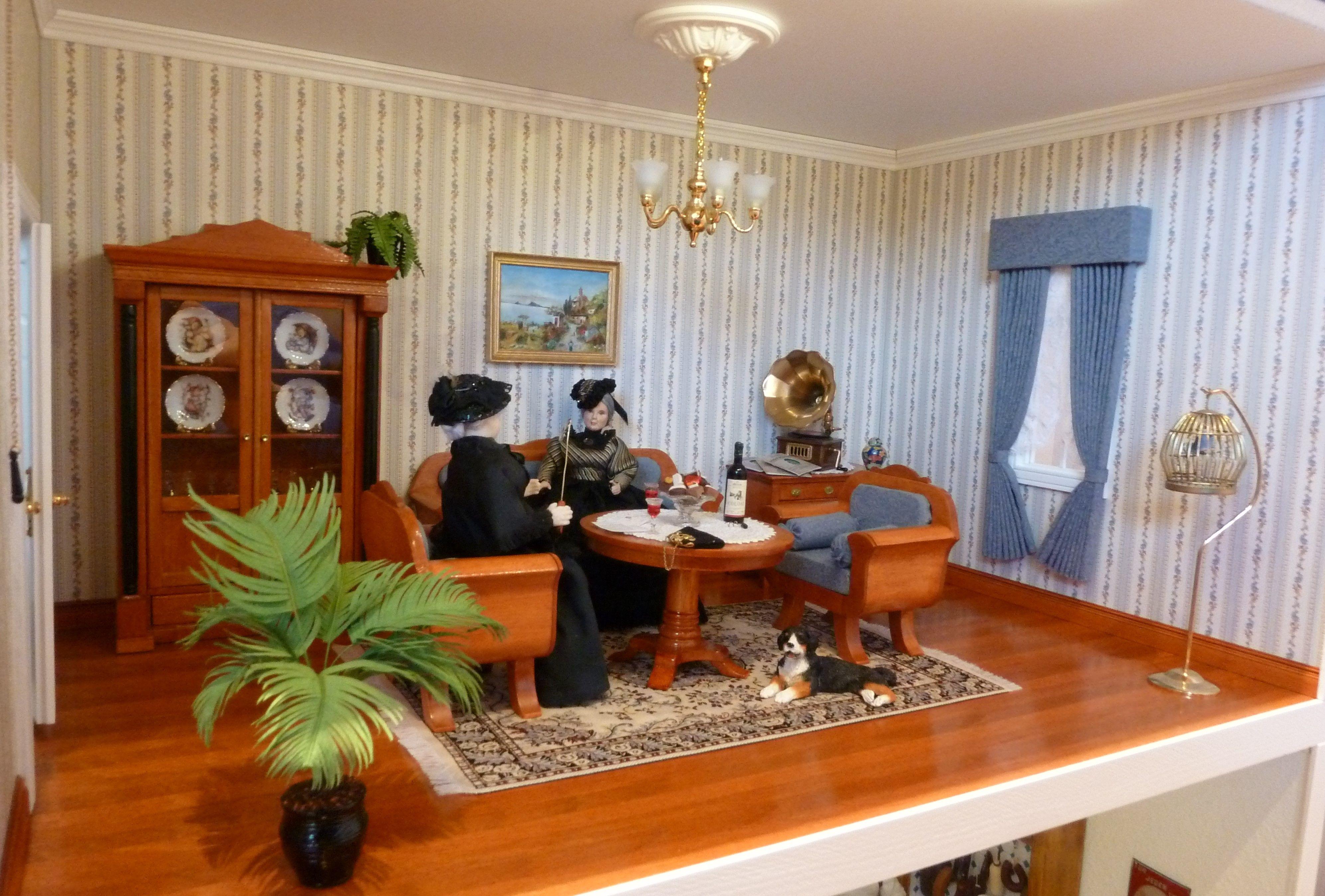 Wohnzimmer Puppenhaus 18:182  Puppenhaus, Wohnzimmer, Haus