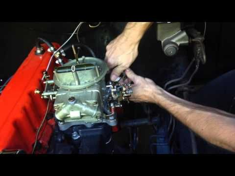 1968 Chevy C10 Inline 6-250 Holley 350 CFM 2-barrel Carburetor Install: Video part #2 - YouTube