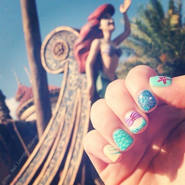 Mermaid Nail Art Adorable: Disney Princess Mermaid Ariel Nail Art Design