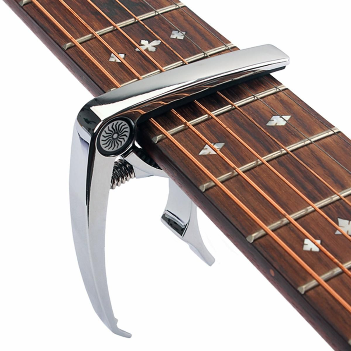 Metal Guitar Capo Quick Change Clamp Key for Acoustic Electric Guitar Ukulele #electricguitars