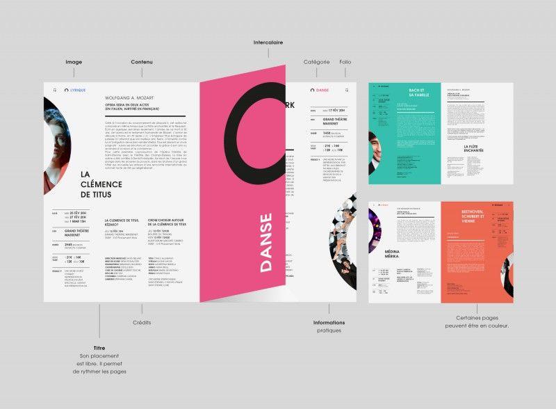 New Branding Of The Saint Etienne Opera House Booklet Design Branding Design Catalog Design