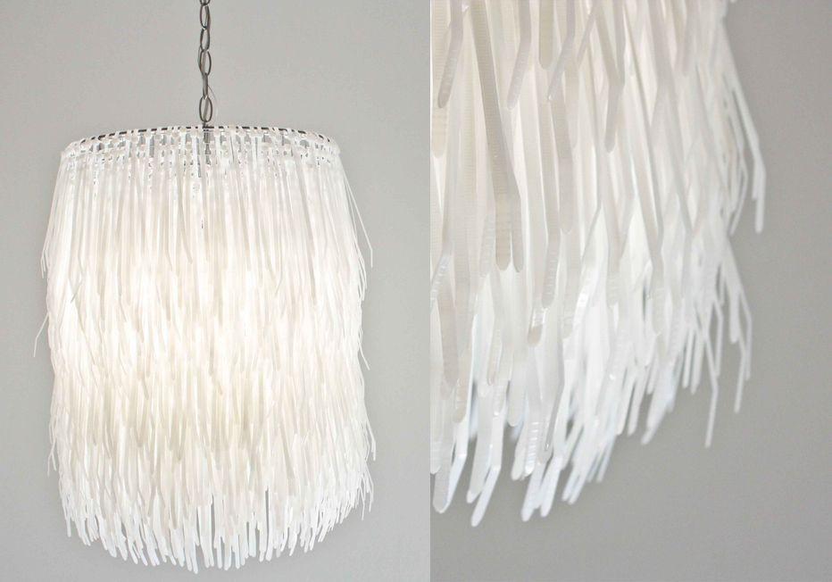 DIY zip tie lampshade or chandelier  #light #lighting #chandy #DIY #zip #tie@decorget