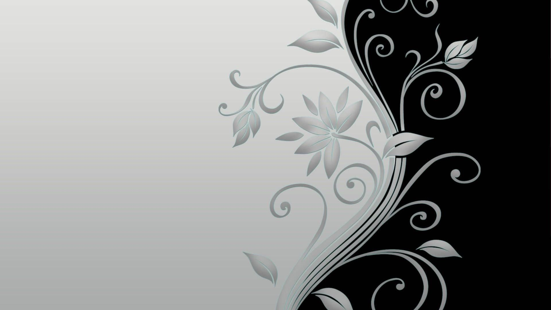 Hd wallpaper vector - Vector Flower Black And White Hd Wallpaper Of Vector 1920x1080px Hd Wallpapers 5885