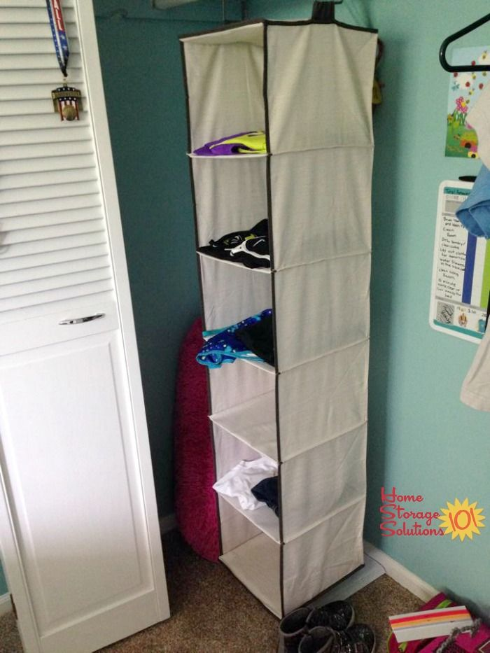 Hanging Closet Organizer Used To Lay Out 6 Days Worth Of Clothes Socks And Accesso Storage Solutions Closet Clothes Storage Solutions Hanging Closet Organizer