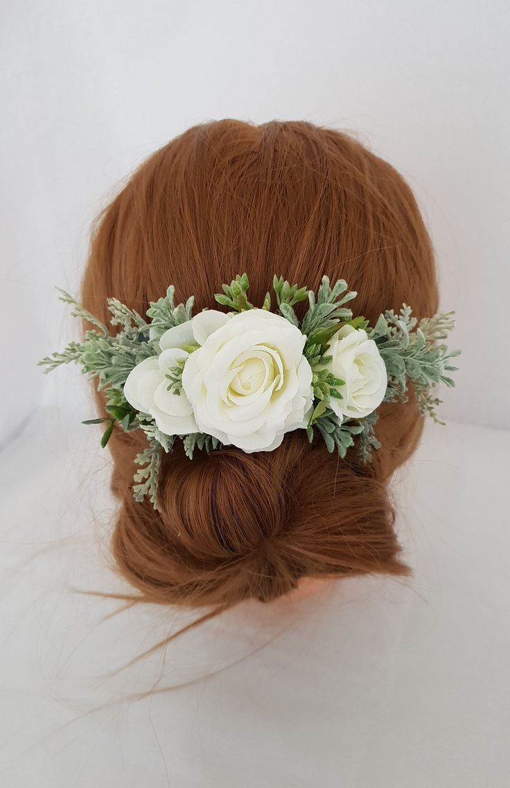 Bridal flower hair comb-Wedding hair accessories-Bridal hair comb-Flower hair accessories-Bridesmaid hair accessories-Wedding flower hair #brautblume