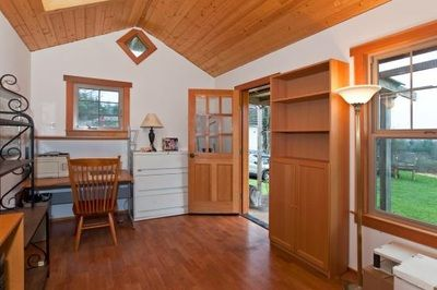 Interior converted barn home study