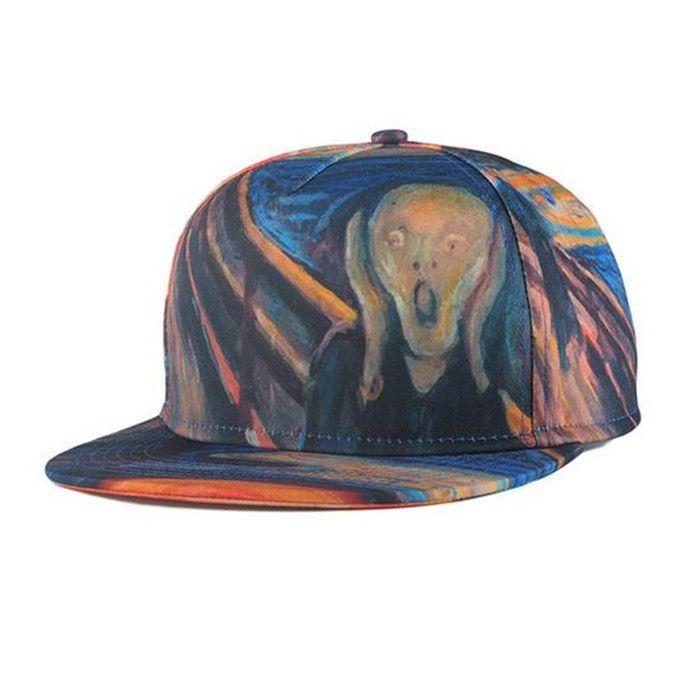 Hip Hop Cap Summer Swag Skull 3D Printed Bone Caps Snapback Hat Adjustable  Baseball Hats for 9756d7e4206