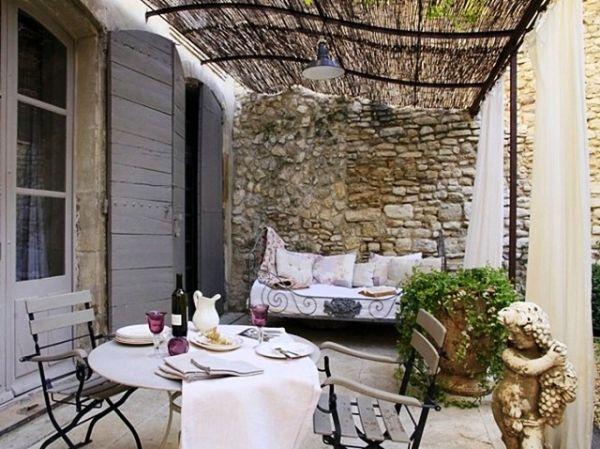 Terrasse Gestaltung Mediterran Stil Balkon Terasse