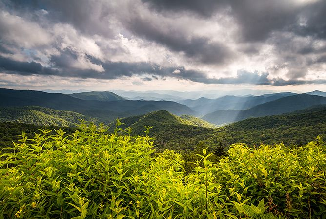 North Carolina Blue Ridge Parkway Scenic Landscape Photography