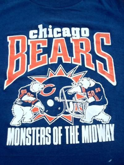 Vintage Chicago Bears NFL Monsters Of The Midway T-shirt.  e9c215453