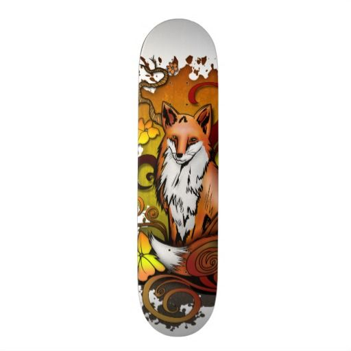 Outdoor Fox Skateboard Deck Zazzle Com Skateboard Decks Cool Skateboards Skateboard