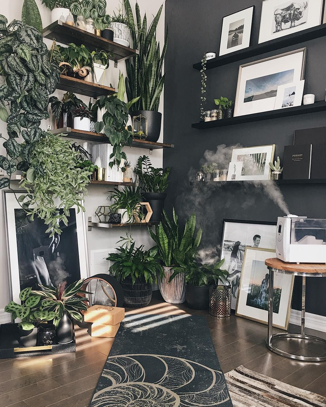 Mel On Instagram The Perfect Little Meditation Yoga Corner Benefits To Adding Plants Home Yoga Room Meditation Room Diy Meditation Rooms