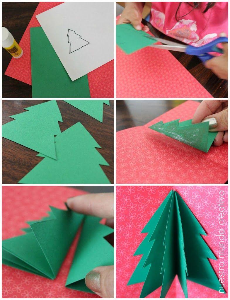 Tarjeta con el rbol de navidad pop up artividades manualidades pinterest el arbol de - Como hacer tarjetas navidenas a mano ...