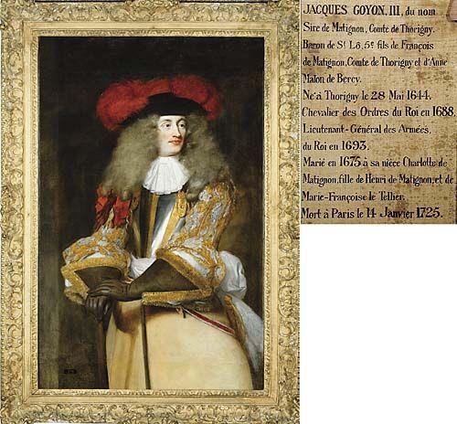 Jacques III de Goyon-Matignon, Comte de Thorigny, Baron de Saint-Lô, 1644-1725.