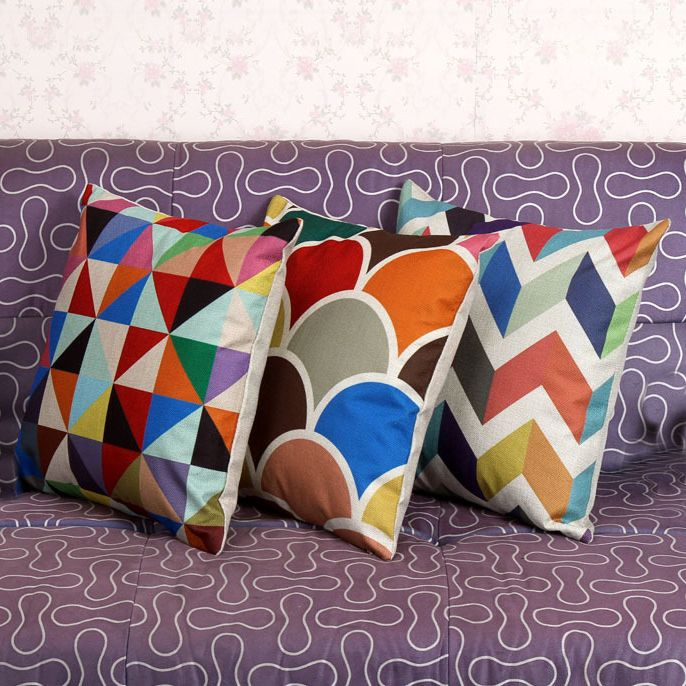 Ikea Decorative Pillows Fascinating New Ikea Decorative Throw Pillow Cushion Cover Geometric Lumbar Design Inspiration