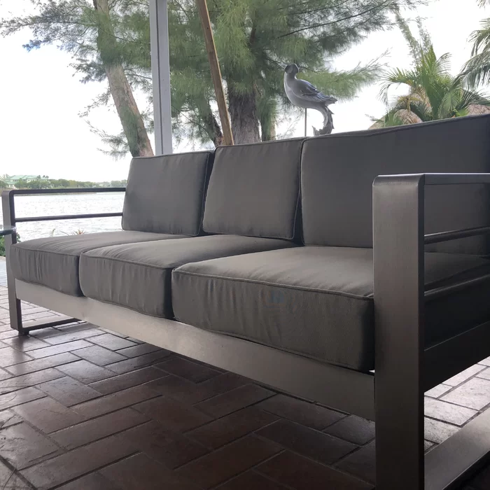 Royalston Patio Sofa With Cushions In 2020 Patio Sofa Sofa