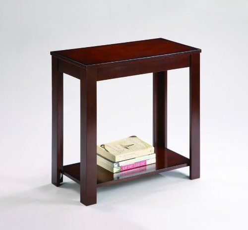 Pierce Espresso Chairside Table Small Storage End Table 33 95 Topseller Chair Side Table End Tables End Tables With Storage