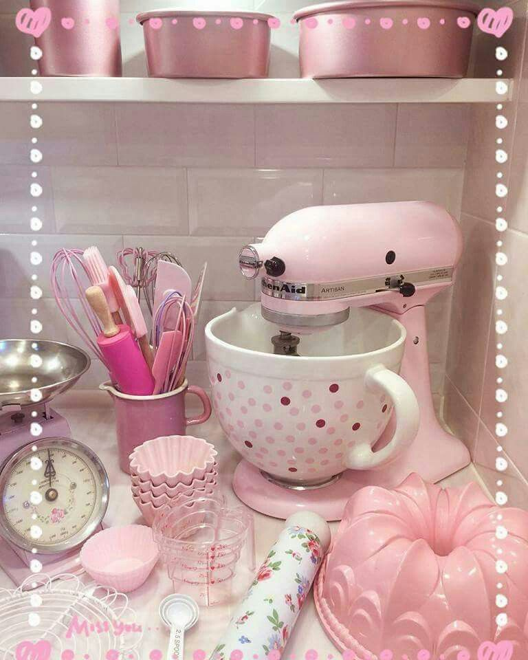 Pin By Pat Cami On Decoration Pink Kitchen Shabby Chic Pink Kitchen Decor Apartment