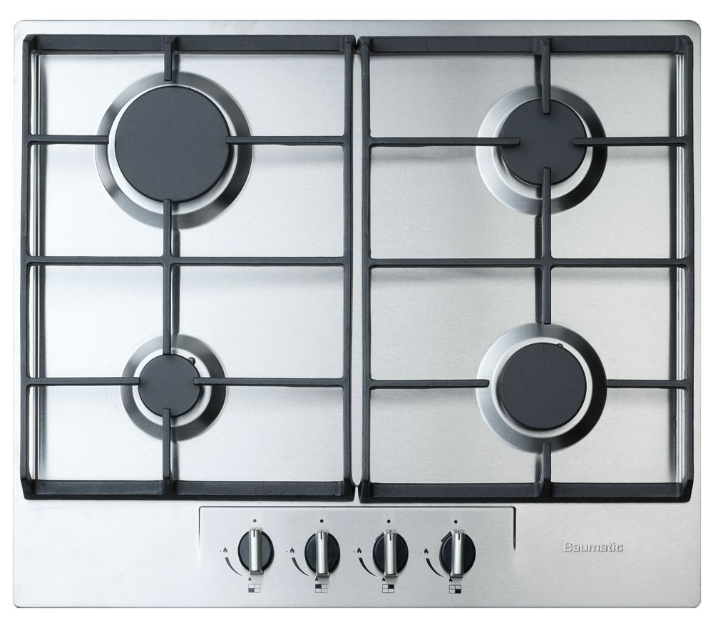 BAUMATIC BHG620SS Gas Hob - Stainless Steel | Mum kitchen ...