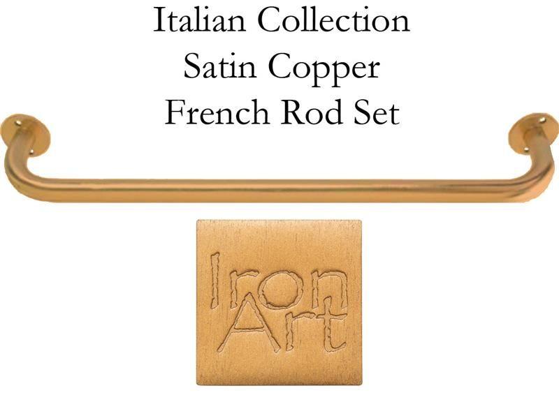 Italian French Curtain Rod 1 Diameter In Satin Copper