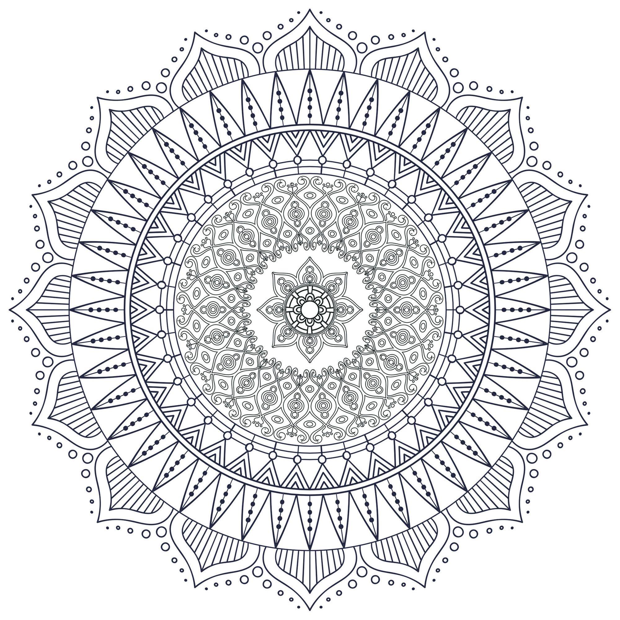 Difficult Zen Anti Stress Mandala 7 Difficult Mandalas For