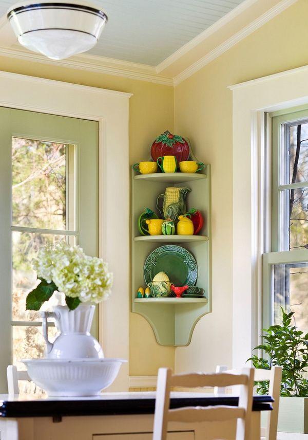 kitchen corner shelf space saving ideas home decorating ideas rh pinterest com Bathroom Shelving Ideas Decorative Wall Shelves