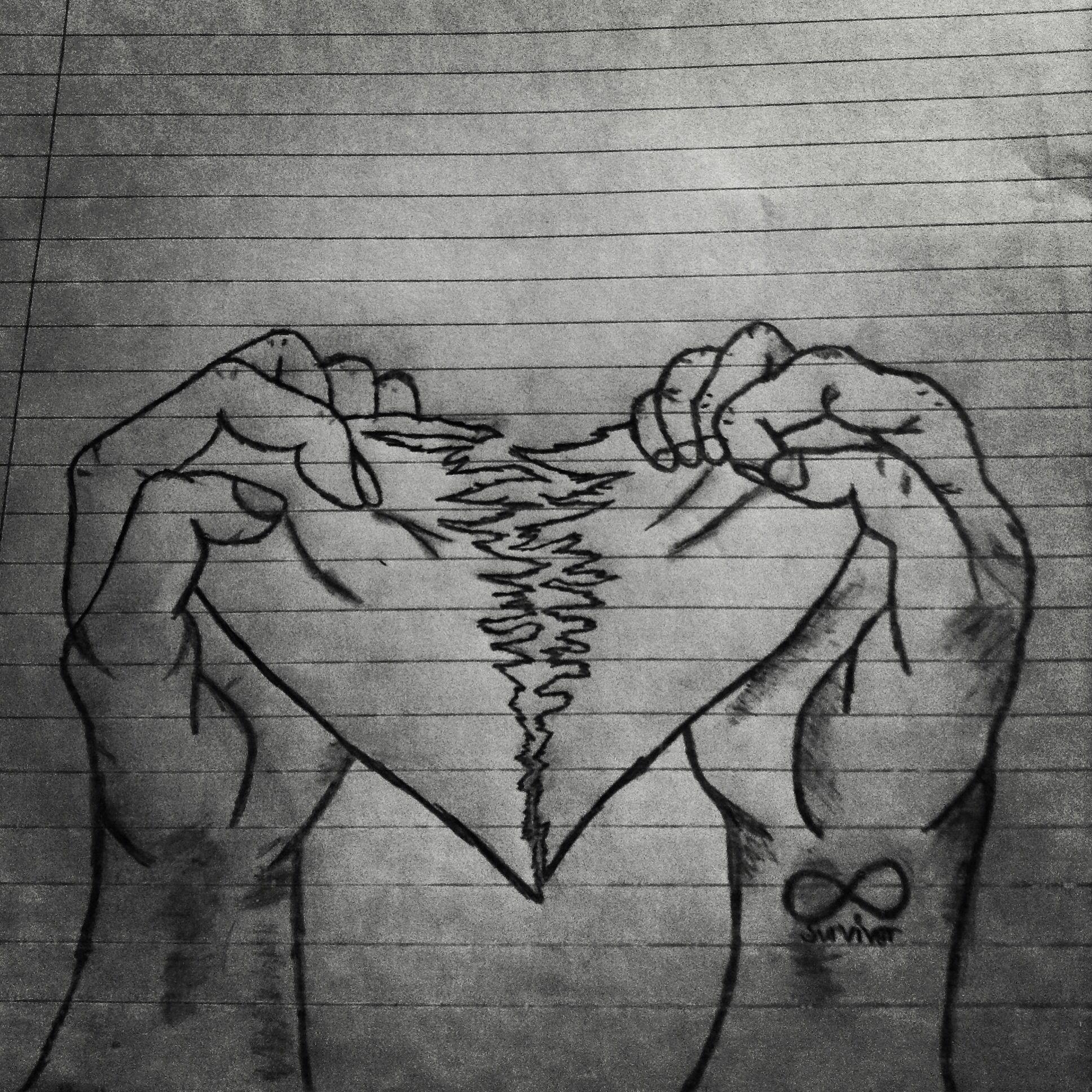 drawings of hearts - HD1936×1936