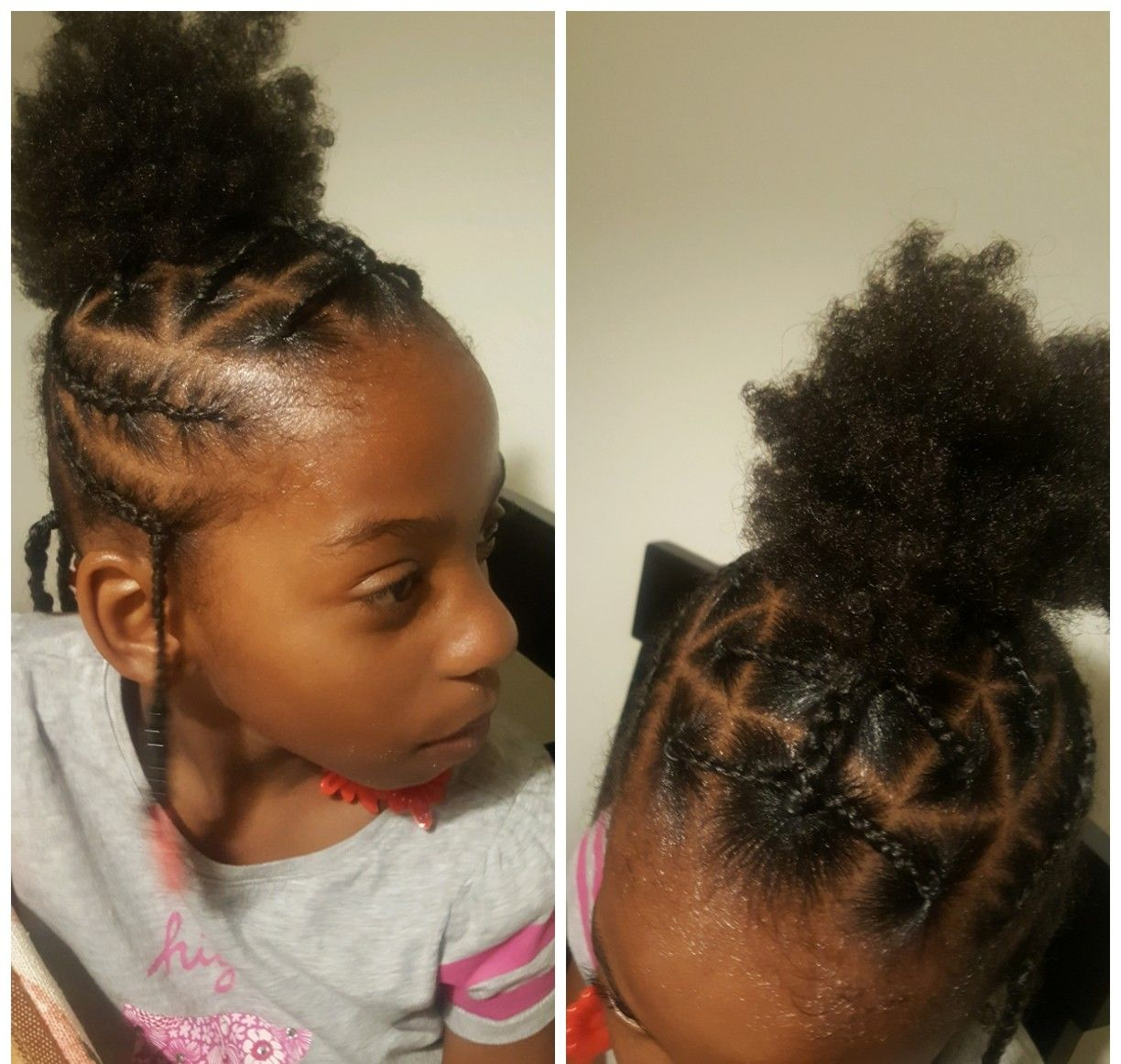 Simple Hair Styles For Little Black Girls Braids Beads And Rubber Bands In Curly And Thick Hair Girl Hairstyles Black Girl Braids Easy Hairstyles