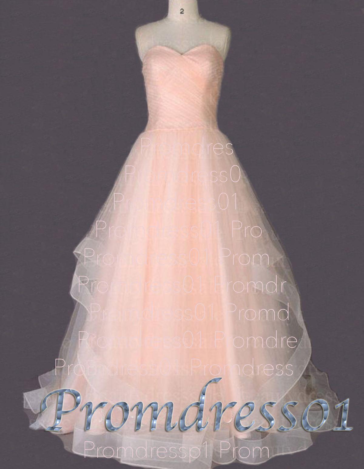 Elegant pink organza sweetheart prom dress for teens #weddingdresses ...