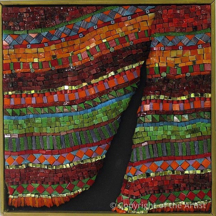 Maplestone Gallery ~ Contemporary Mosaic Art  ~ 'Stage Fright by Marian Shapiro