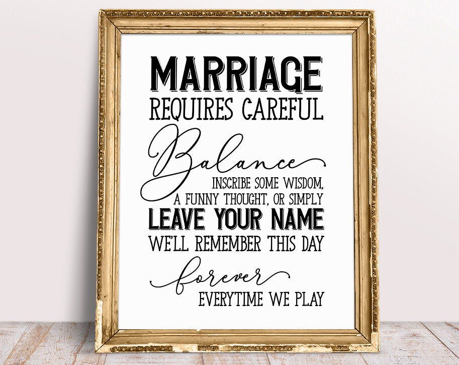 marriage sign wedding jenga sign marriage requires. Black Bedroom Furniture Sets. Home Design Ideas