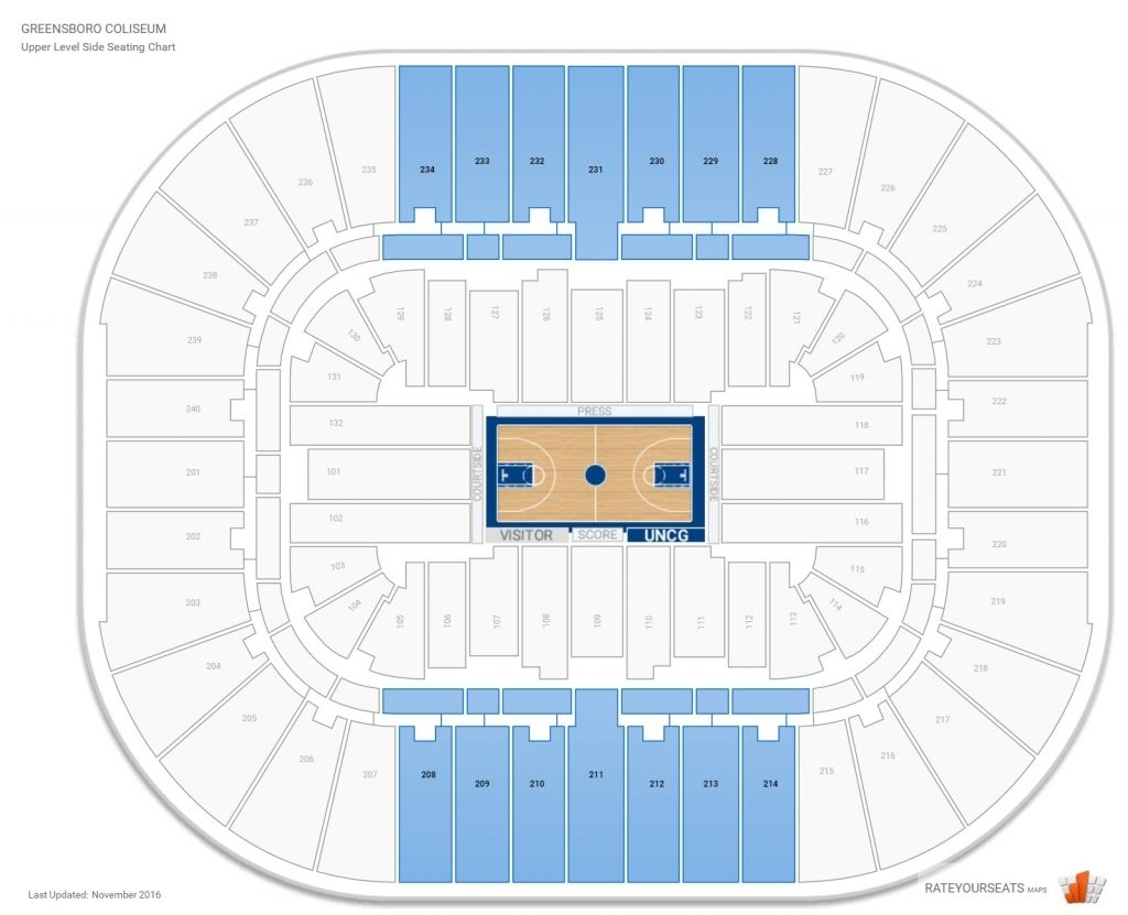 Greensboro Coliseum Seating Chart In 2020 Seating Charts Seating Chart