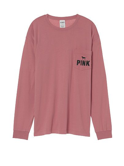 """Campus Long Sleeve tee; in colour """"soft begonia""""; size medium"""
