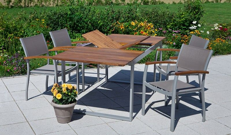 Gartenmobel Tischplatte Mittels Flugelmechanismus Auf 200 Cm