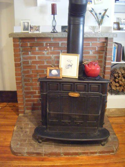 Find this Pin and more on Wood Stove Ideas by mrrendleman. - Painting Floor Bricks Around Woodburning Stove? — Good Questions