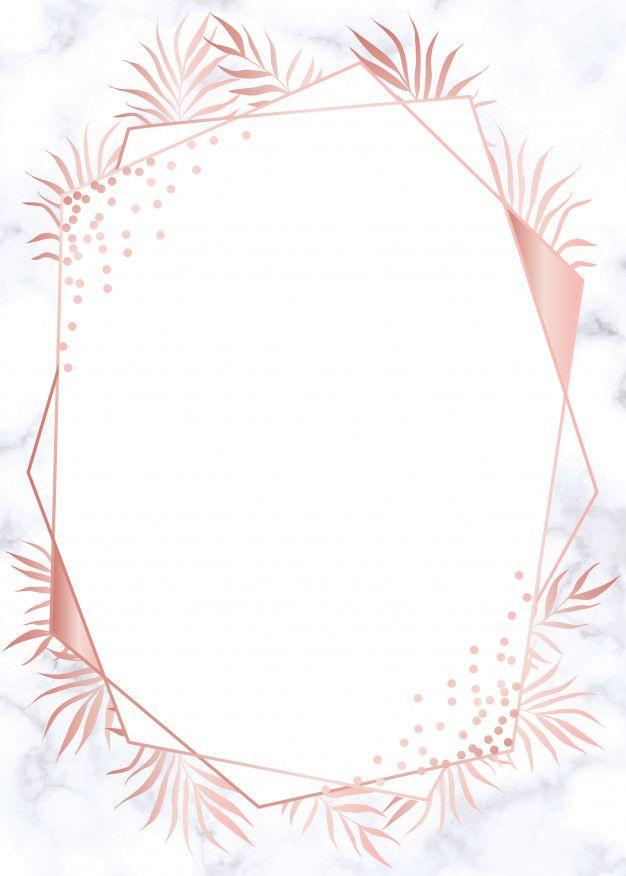 Modern Rose Gold Geometric Wedding Invitation Background   Convite rosa, Fundo para convite ...