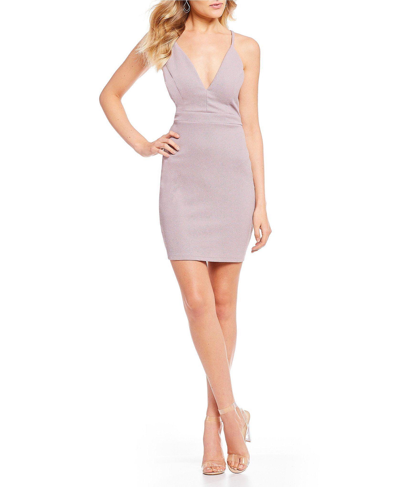 6c491dd6efb Shop for Honey and Rosie Glitter-Accented Bra-Back Bodycon Dress at  Dillards.com. Visit Dillards.com to find clothing