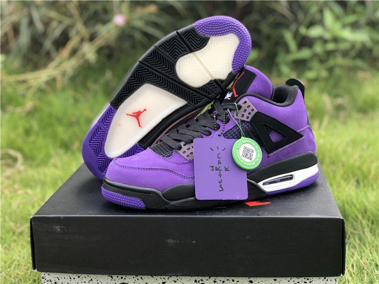 """80ce55233bf412 Travis Scott x Air Jordan 4 """"Purple"""" 308497-510"""