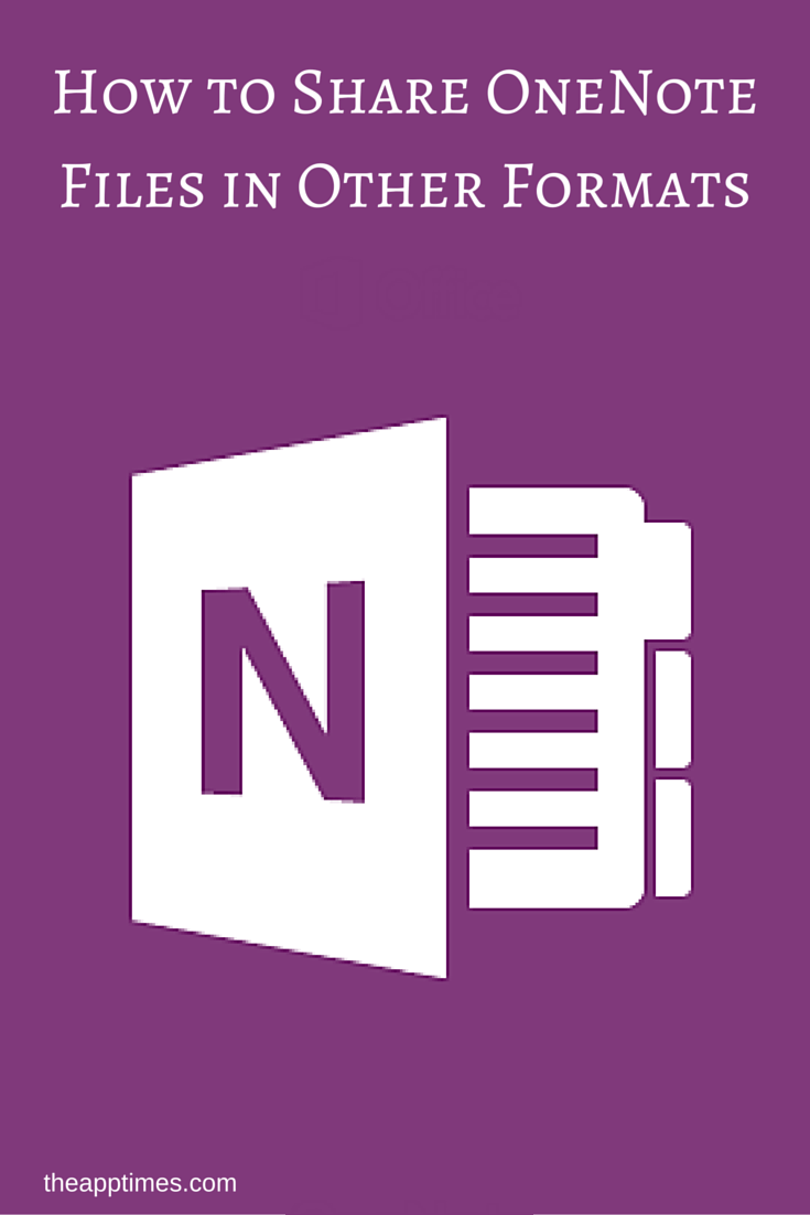 Share onenote files in other formats such as pdf how to onenote 2016 tutorial in this guide we show you how to share onenote files baditri Choice Image